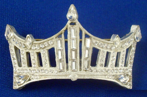 Rhinestone Crown Pin: An Instant Pageant Classic