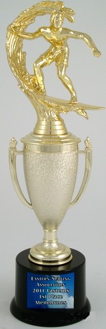 Surf Cup Trophy on Med. Round Base-Trophies-Schoppy's Since 1921