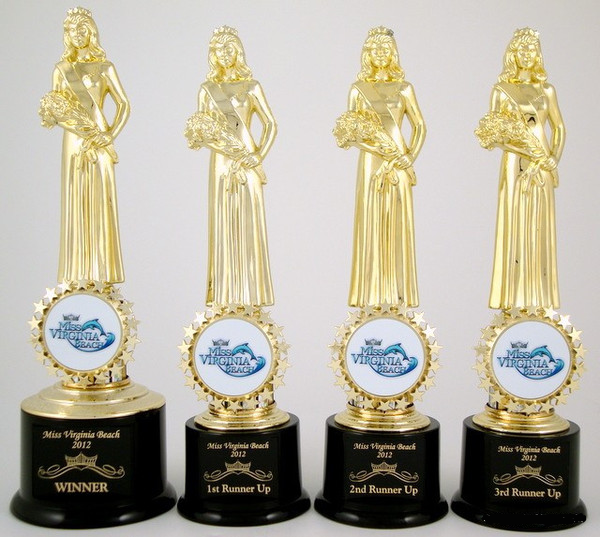 Custom Pageant Logo Trophy Set