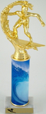 Surfing Trophy with Custom Round Column-Trophies-Schoppy's Since 1921