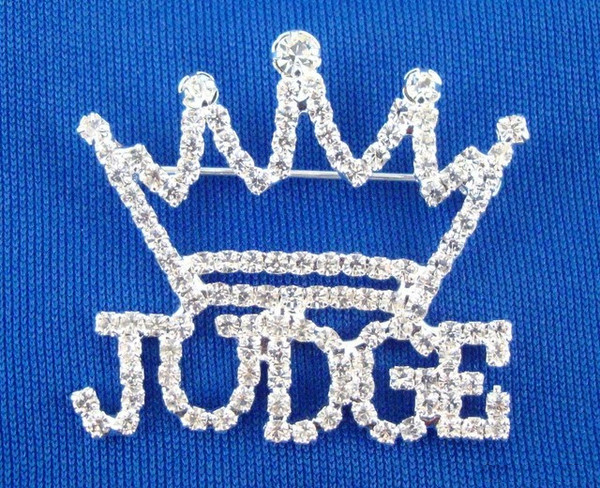 Rhinestone Judge Pin