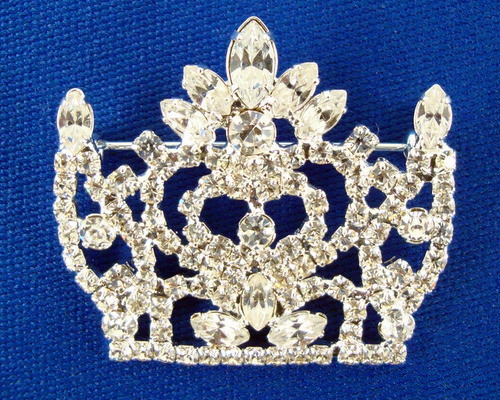Full Rhinestone Crown Pin