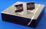 Pageant Crown Rectangular Cuff Links-Jewelry-Schoppy's Since 1921