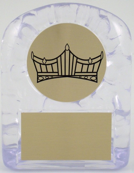 Large Ice Trophy with Crown Logo