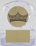 Large Ice Trophy with Crown Logo-Trophies-Schoppy's Since 1921