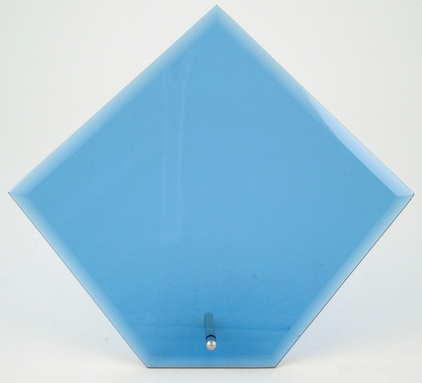 Pageant Diamond Glass Award - Large Blue