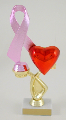 Awareness Ribbon Heart Trophy