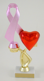Awareness Ribbon Heart Trophy-Trophies-Schoppy's Since 1921
