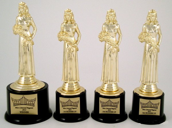 Pageant Round Base Trophy Set-Trophies-Schoppy's Since 1921