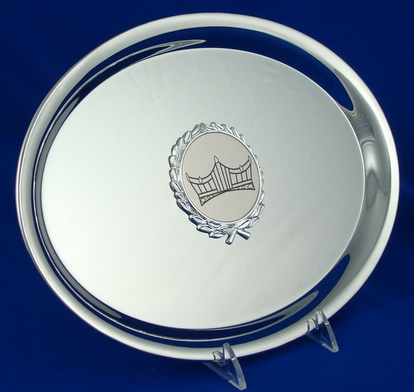 Pageant Oval Nickel Plated Tray-Tray-Schoppy's Since 1921