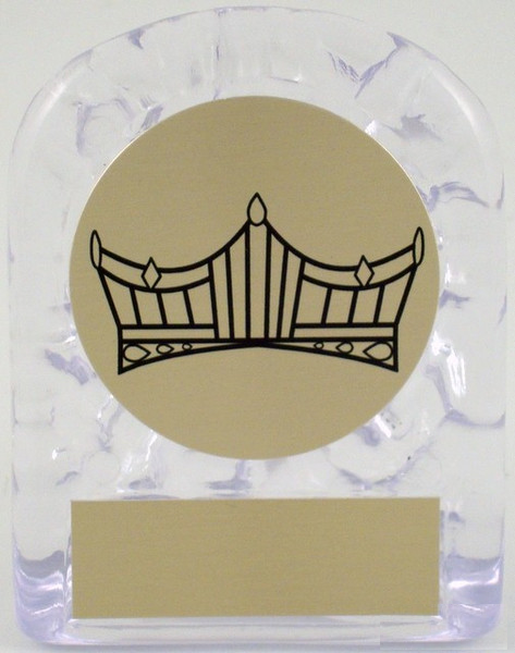 Small Ice Trophy with Crown Logo