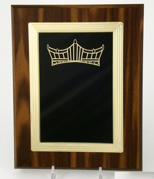 Pageant Crown Logo Frame Plaque