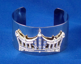 Rhinestone Crown Wrist Cuff-Pageant-Schoppy's Since 1921