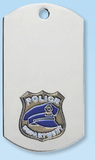 Police Dog Tag Necklace-Jewelry-Schoppy's Since 1921