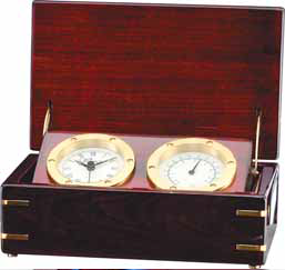 Analog Desk Clock and Thermometer