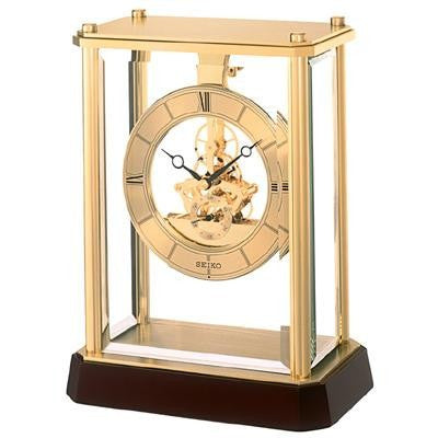 Seiko Gold Skeleton Mantle Clock