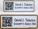 QR Code Name Badge-Name Tag-Schoppy's Since 1921