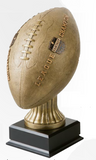 Fantasy Football Bronze Football on Black Wood Base-Trophy-Schoppy's Since 1921