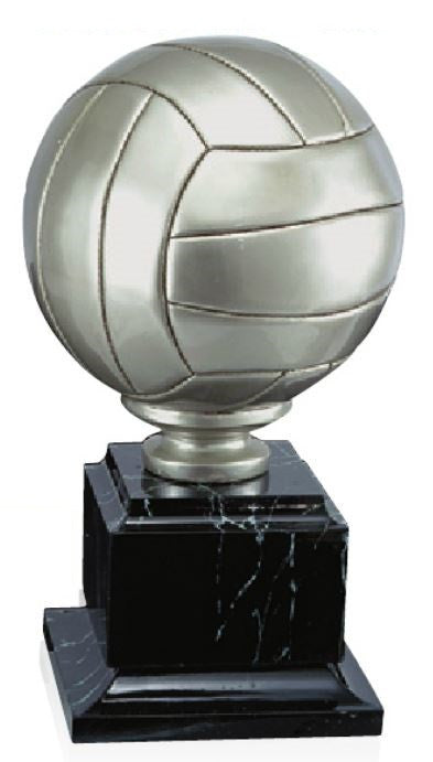 Antique Silver Volleyball Trophy