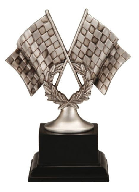 Motor Sports Crossed Flags Trophy-Trophy-Schoppy's Since 1921