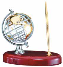 Globe with Single Pen