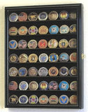 Small Military Challenge Coin Display Case Cabinet - Black-Display Case-Schoppy's Since 1921