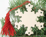 Snowflake Ornament w/ Red Tassel-Gift-Schoppy's Since 1921