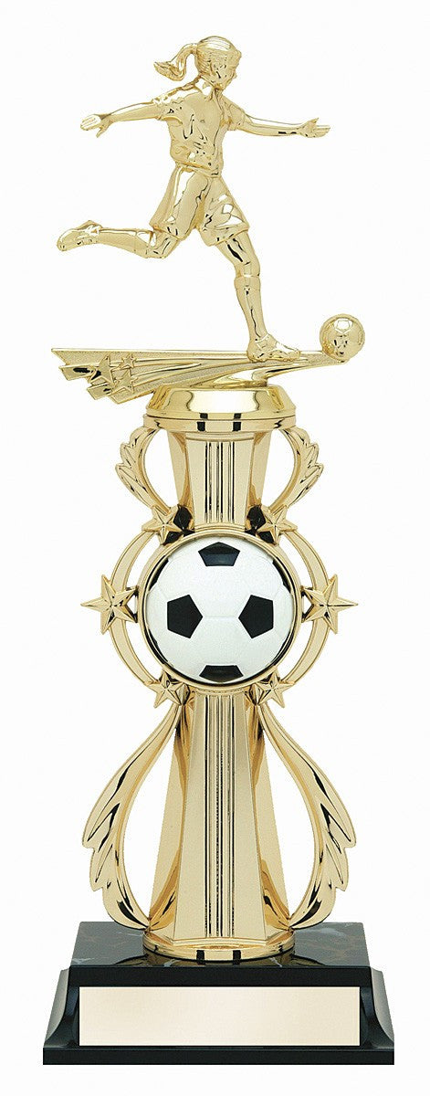 Soccer Pre-Built All-Star Trophy Female-Trophies-Schoppy's Since 1921
