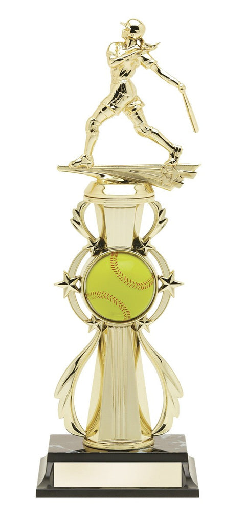 Softball Pre-Built All-Star Trophy