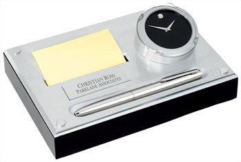 Movado Note Pad Desk Set-Clock-Schoppy's Since 1921