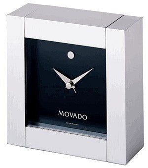 Movado Square Clock-Clock-Schoppy's Since 1921