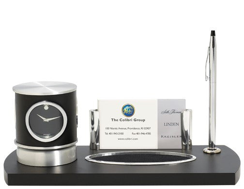 Movado Desk Set-Clock-Schoppy's Since 1921