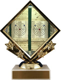 Axe Throwing Logo Diamond Trophy-Trophy-Schoppy's Since 1921