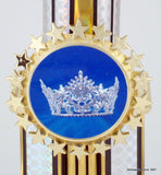 "Two Tier Crown Logo Trophy 18.5""-Trophies-Schoppy's Since 1921"