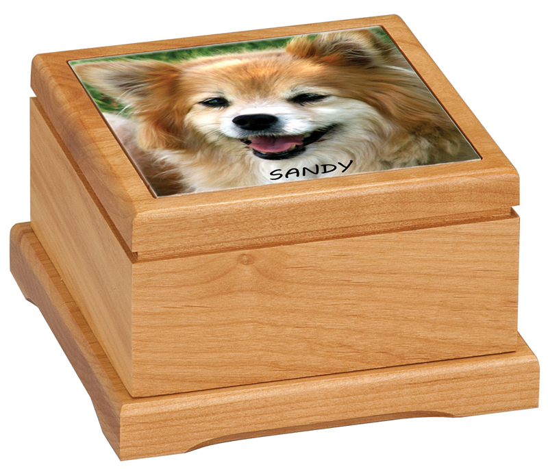 Pet Urn - Medium with Photo Tile-Box-Schoppy's Since 1921