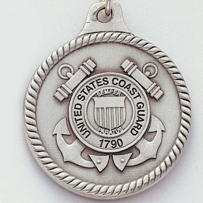 United States Coast Guard Genuine Pewter Key Chain