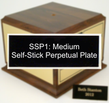 SSP1: Medium Self-Stick Perpetual Plate-Plate-Schoppy's Since 1921