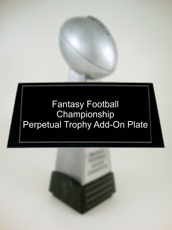 Fantasy Football Championship Perpetual Trophy Add-On Plate-Plate-Schoppy's Since 1921