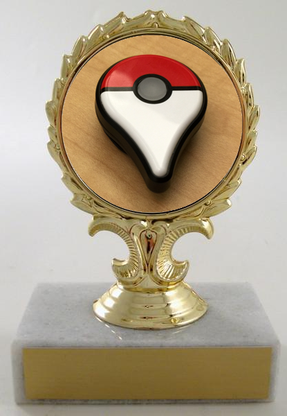 Go Trophy On Flat Marble Base