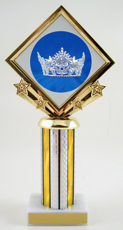 Pageant Diamond Star Column Trophy