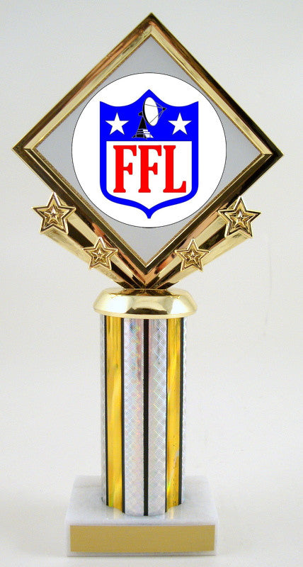 Fantasy Football Diamond Star Column Trophy