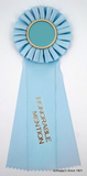 Single Custom Large Rosette Ribbon - First thru Sixth, Honorable Mention, Best of Show-Ribbon-Schoppy's Since 1921