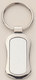 Polished Oval Shaped Silver Keyring-Key Chain-Schoppy's Since 1921