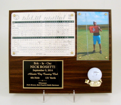 Hole In One Scorecard Photo Plaque