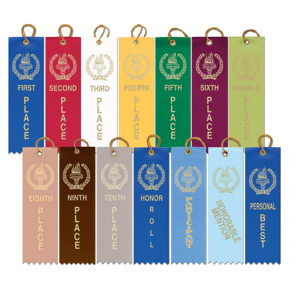 Place Strip Ribbon - First thru Sixth & Participant-Ribbon-Schoppy's Since 1921