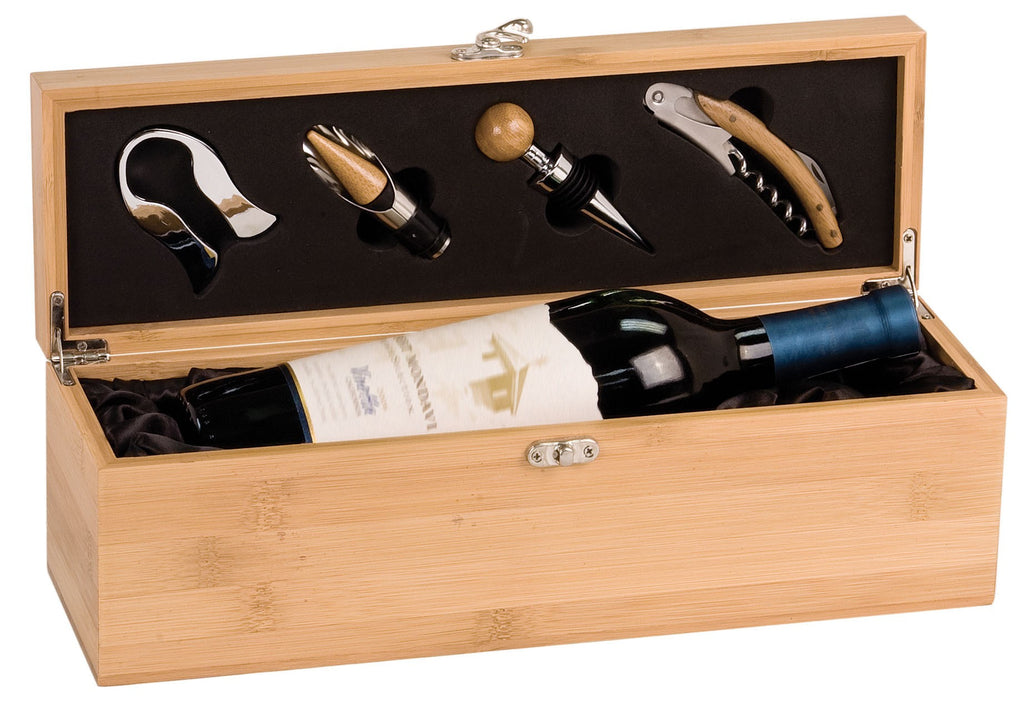 Bamboo Single Bottle Wine Presentation Box