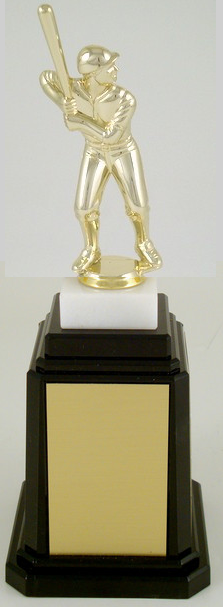 Baseball Player Figure Tower Base Trophy