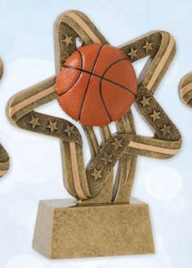 Basketball Stars And Stripes Resin Trophy-Resin-Schoppy's Since 1921