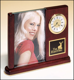 Rosewood Finish Clock with Glass Photo Frame BC19-Clock-Schoppy's Since 1921