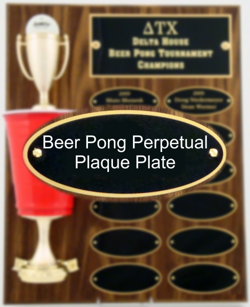 Beer Pong Perpetual Plaque Plate
